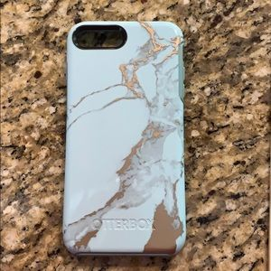 iPhone 8 Plus Otterbox - blue & marble colored